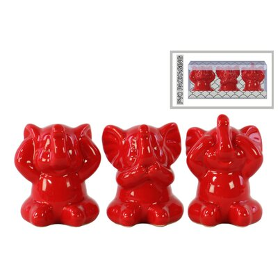 Lexie Doting Elephant 3 Piece Figurine Set in PVC Packaging BLMK1742 43617547