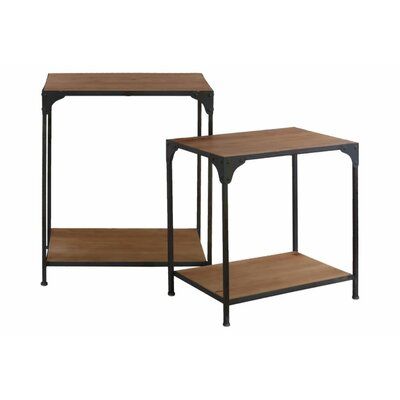Reiff 2 Pieces Nesting Tables with Shelf