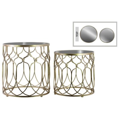 Astrid 2 Pieces Nesting Tables with Patterned Design