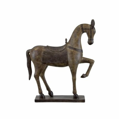 Joey Resin Bridled and Saddled Statue with Base Horse DRBH1615 43615470