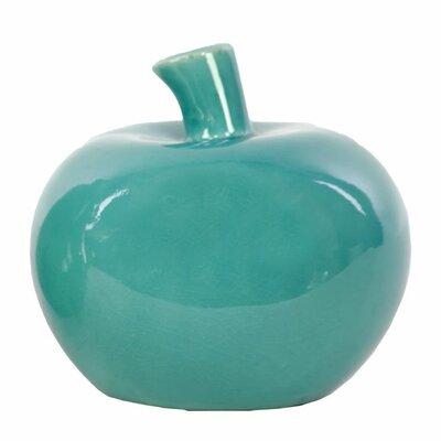 Arlen Ceramic Apple Sculpture Color: Turquoise