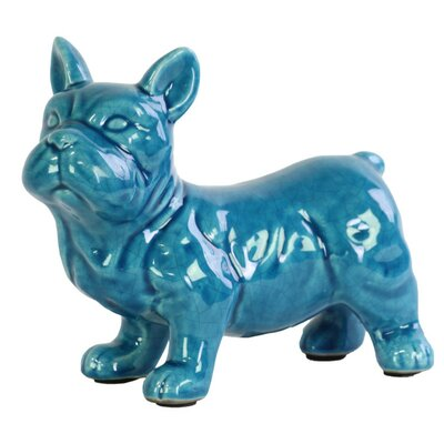 Tahoe Curious Standing French Bulldog Figurine with Pricked Ears
