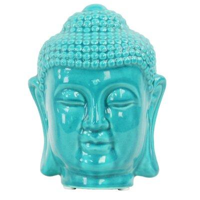 Fawnridge Calm Buddha Head Bust with Rounded Ushnisha Color: Blue