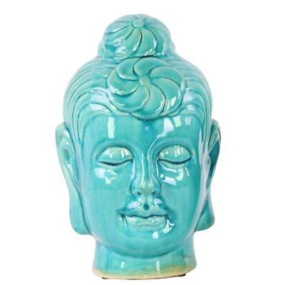 Champaign Buddha Head Bust with Bun Ushnisha Size: 9.75