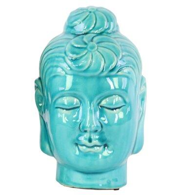 Champaign Buddha Head Bust with Bun Ushnisha Size: 8