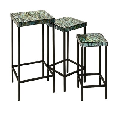 Sepulveda Elegant Mosaic 3 Piece Nesting Tables