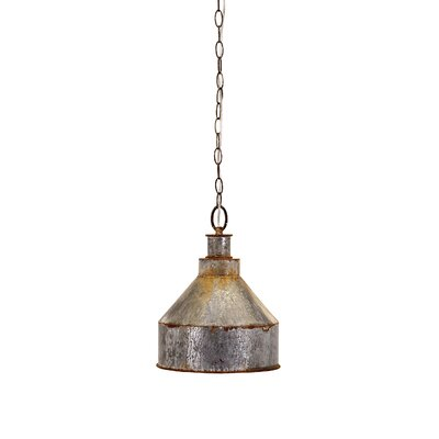 Niven Antique Galvanized 1-Light Inverted Pendant