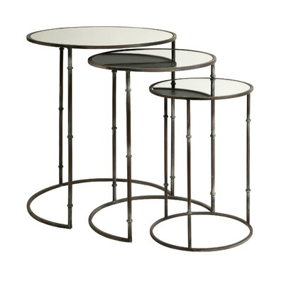 Mayores Mirror Top 3 Piece Nesting Tables