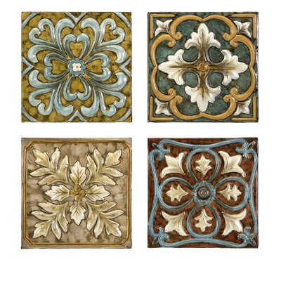 Elegant Casa Medallion 4 Piece Tile Set