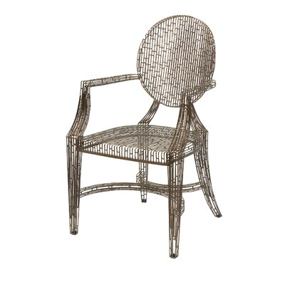 Wick, Somerset Fashionable Handcrafted Metal Armchair