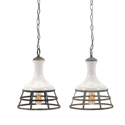 Savanna Captivating Ceramic and Metal 1-Light Geometric Pendant