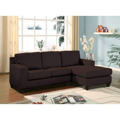 Redus Sectional with Ottoman Upholstery: Brown