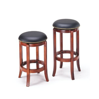 Courtdale Traditional 24 Swivel Bar Stool