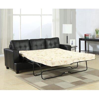 Redner Platinum Reclining Sofa Upholstery: Black