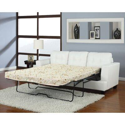 Redner Platinum Reclining Sofa Upholstery: White