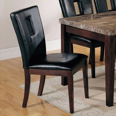 Geizi Upholstered Dining Chair Upholstery Color: Black