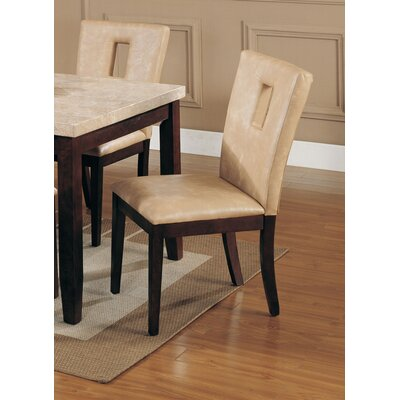 Geizi Upholstered Dining Chair Upholstery Color: Cream
