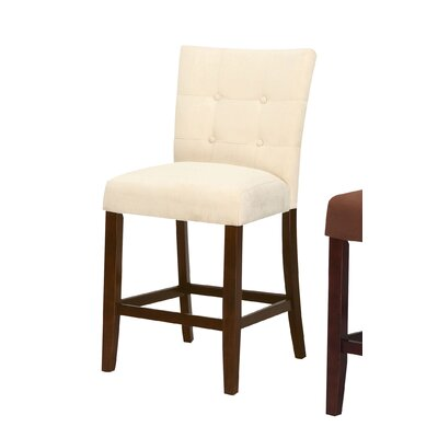 Ketaki Counter Height Dining Chair Upholstery Color: Beige