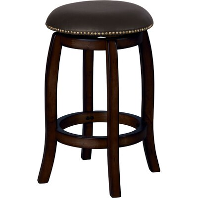 Courtdale 24 Swivel Bar Stool Frame Color: Black