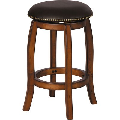 Courtdale 24 Swivel Bar Stool Frame Color: Brown