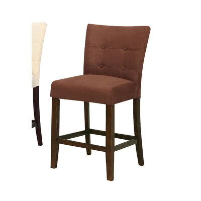Ketaki Counter Height Dining Chair Upholstery Color: Brown