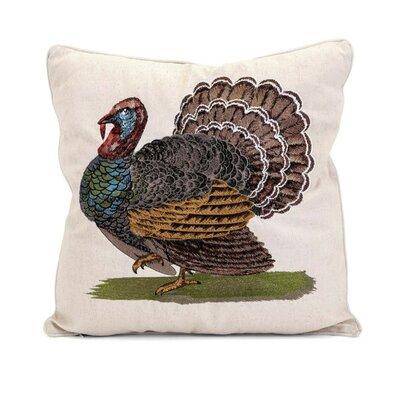Heena Embroidered Turkey 100% Cotton Throw Pillow