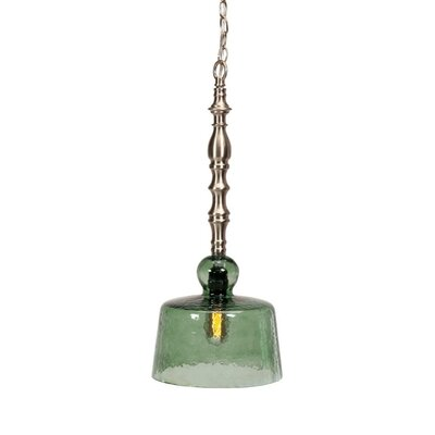 Galghard 1-Light Mini Pendant Shade Color: Green