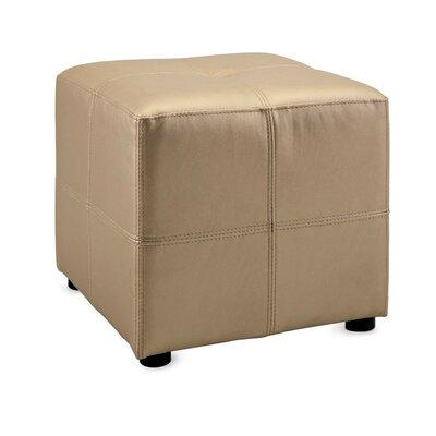 Riffle Upholstered Ottoman Upholstery: Beige