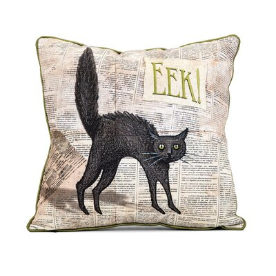 Rupali Halloween Cat 100% Cotton Throw Pillow