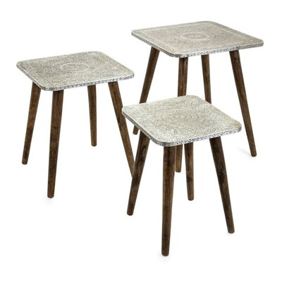 Lindell Metal 3 Piece Nesting Tables