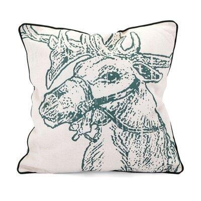 Christmas Vintage Reindeer 100% Cotton Throw Pillow