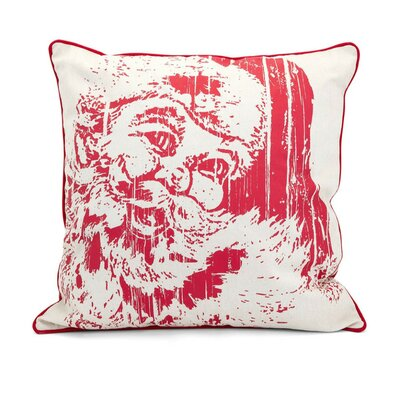 Christmas Vintage Santa 100% Cotton Throw Pillow
