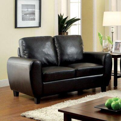 Burciaga Loveseat Upholstery: Black