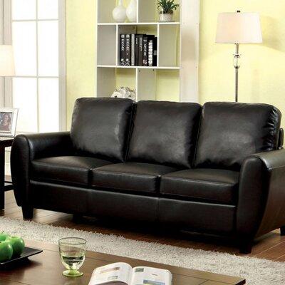 Reedy Sofa Upholstery: Black
