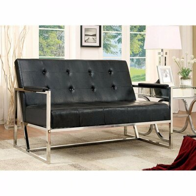 Carn Loveseat Upholstery Color: Black