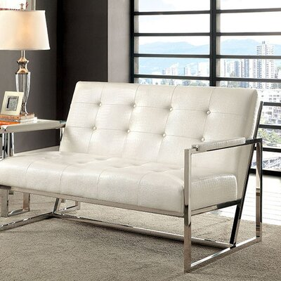 Carn Loveseat Upholstery Color: White
