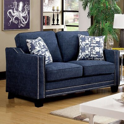 Panos Loveseat Upholstery: Blue