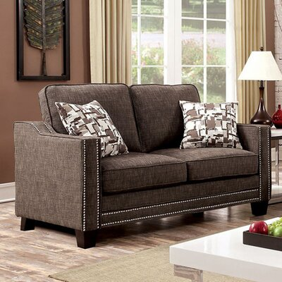 Panos Loveseat Upholstery: Brown