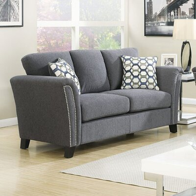 Arambulo Loveseat Upholstery Color: Gray