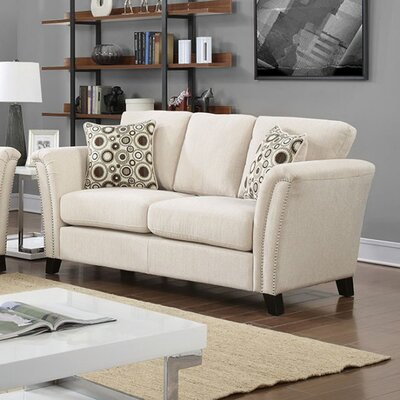 Arambulo Loveseat Upholstery Color: Ivory