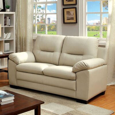 Buoi Loveseat Upholstery Color: Ivory