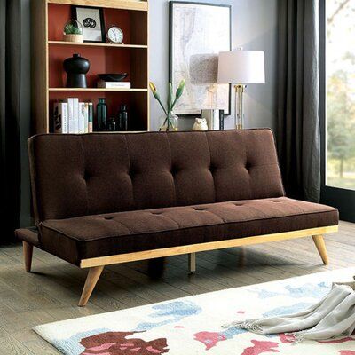 Rapier Futon Sofa Upholstery: Brown