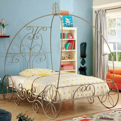 Hague Champagne Queen/ King Canopy Bed