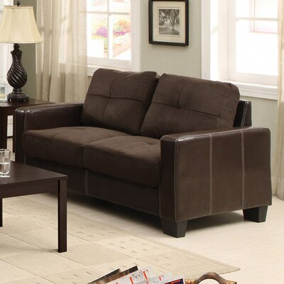Vax Loveseat Upholstery Color: Chocolate/Espresso