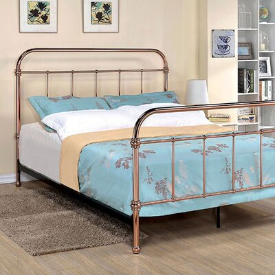 Connorsa Metal Frame Panel Bed Size: Queen