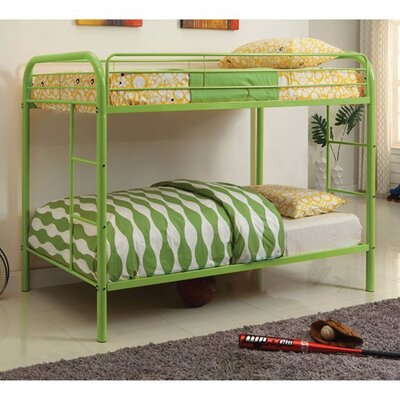 Hargrave Twin/Twin Bunk Bed Bed Frame Color: Green