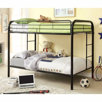Hargrave Twin/Twin Bunk Bed Bed Frame Color: Black