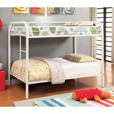 Hargrave Twin/Twin Bunk Bed Bed Frame Color: White