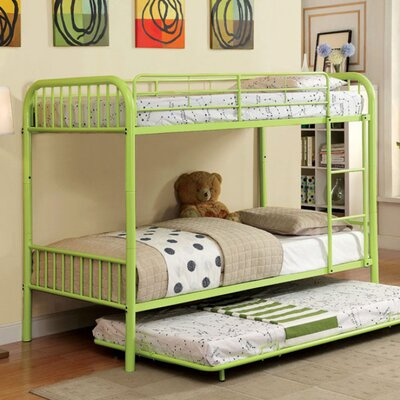 Silkeborg Twin/Twin Bunk Bed Bed Frame Color: Apple Green