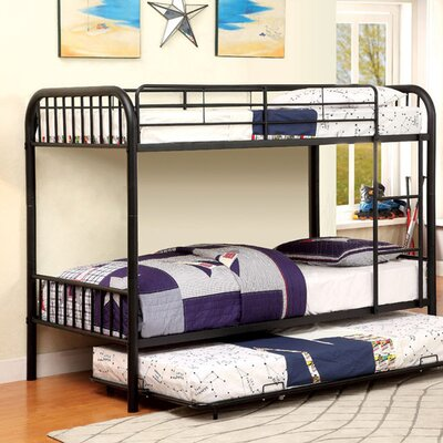 Silkeborg Twin/Twin Bunk Bed Bed Frame Color: Black